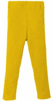 Disana strikkede leggings - økologisk uld - curry