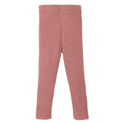 Disana strikkede leggings - økologisk uld - rose