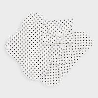 Imse Vimse økologisk stofbind mini -black dots SLIM 3 pk