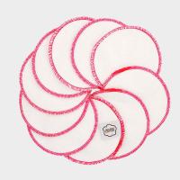 Imse Vimse - økologiske rensepads - 10 stk - pink