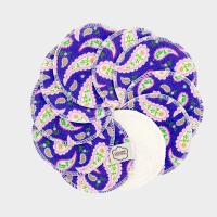 Imse Vimse - økologiske rensepads - 10 stk - purple paisley