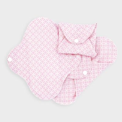 Imse Vimse økologisk stofbind mini -pink halo 3 pk