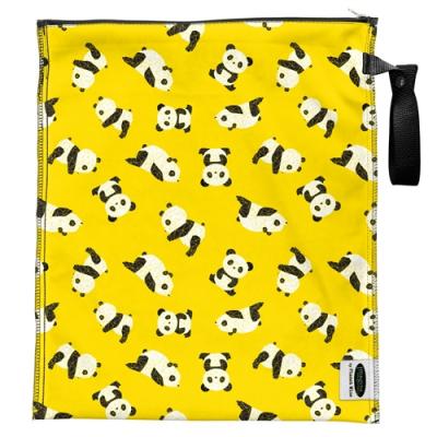 Imagine - lite wetbag MEDIUM med lynlås og strop - panda fold