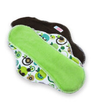 Petit Lulu natbind med velour CLASSIC - apples (green)