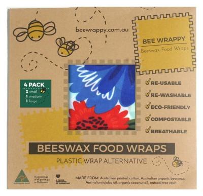 Bee Wrappy - 4 stk i 3 størrelser