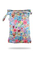 Petit Lulu wetbag med lynlås og strop - blooming garden