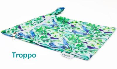 Bambooty - wetbag med lynlås og strop - troppo