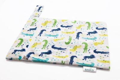 Bambooty - wetbag med lynlås og strop - cranky crocs