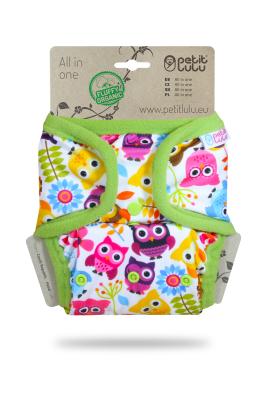 Petit Lulu - AIO lommeble - trykknapper - happy owls