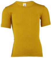 Engel kortærmet bluse i uld / silke - saffron
