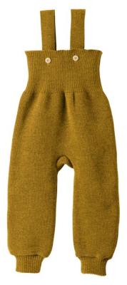 Disana strikkede overalls - økologisk merino uld - gold