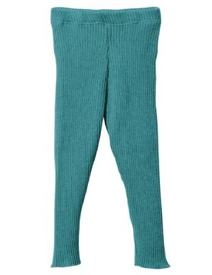 Disana strikkede leggings - økologisk uld - lagoon