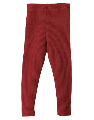 Disana strikkede leggings - økologisk uld - bordeaux