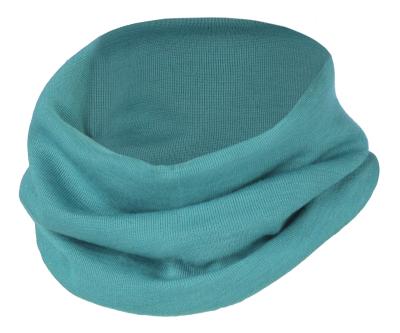 Engel halsedisse i uld / silke - isblå