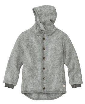 Disana jakke i kogt uld - lys grå