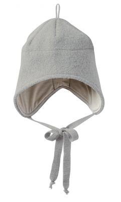Disana hue med bindebånd - økologisk kogt uld - grå