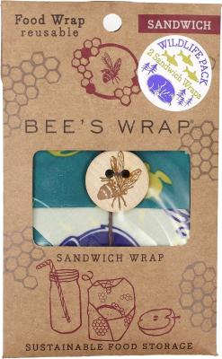 Bee's Wrap - sandwich wrap - wild life - 2 stk