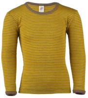 Engel langærmet bluse i uld / silke - saffron / valnød