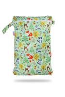 Petit Lulu wetbag med lynlås og strop - forest animals
