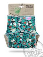 Petit Lulu - formsyet fluffy ONESIZE - trykknapper - faddy panda