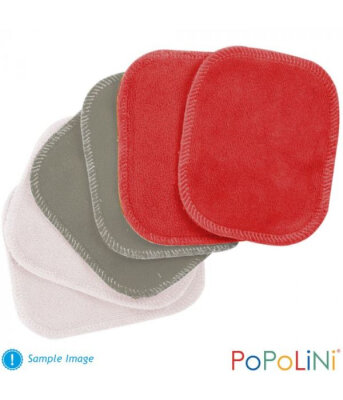 Popolini - økologiske rensepads - 6 stk - farvet