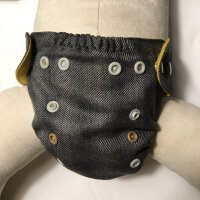 Puppi merino uld cover - mini onesize - trykknapper - falcon