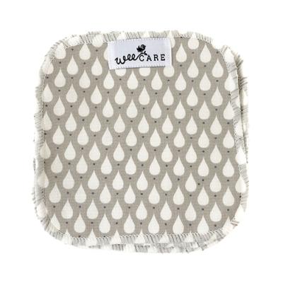 WeeCare - vaskeklude - teardrops toffee - 10 stk