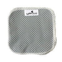 WeeCare - vaskeklude - dots dusty blue - 10 stk