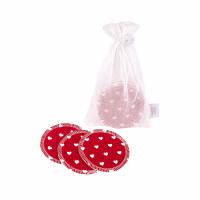 Ella's House - økologiske rensepads med hamp - 10 stk - Red heart
