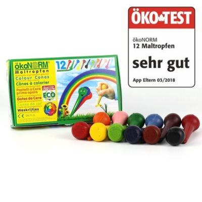 ÖkoNORM sunde voksfarver - 12 stk