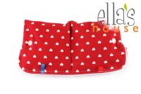 Ella's House wetbag til bind - red heart