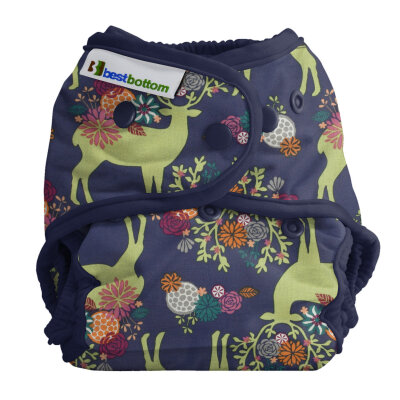Best Bottom AI2 - onesize cover - caribou bloom cotton