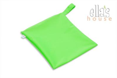 Ella´s House - wetbag med lynlås og strop - neon green