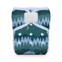 Thirsties natural lommeble - velcro - mountain twillight