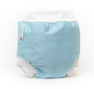 Bambooty - badeble - baby blue stripes