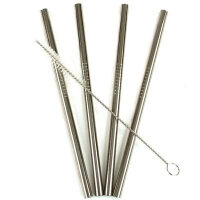 Eco Straw - Sugerør i rustfri stål - Kort - Smoothie - 4 stk