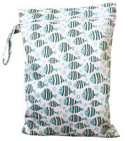 Blümchen - wetbag med lynlås og strop - fishes