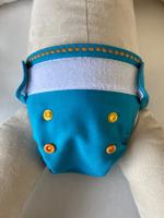 Puppi merino uld cover - newborn - velcro - ocean treasures