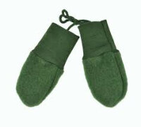 Engel's uldfleece vanter - grøn melange