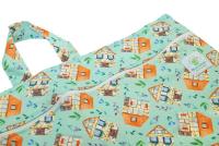 Blümchen - lang wetbag med lynlås og strop - little houses
