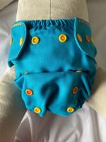 Puppi merino uld cover - onesize PLUS - trykknapper - ocean treasures