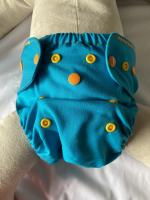 Puppi merino uld cover - onesize PLUS SIO - trykknapper - ocean treasures