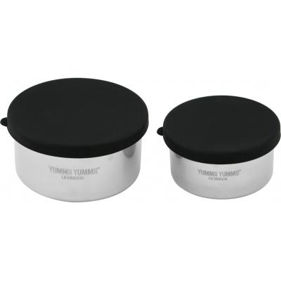 Bento rounds small/medium madbokse i rustfritstål - 2 stk