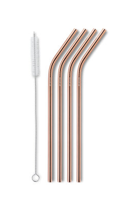 AYAIDA- sugerør i rustfri stål - drinking straw - rose gold