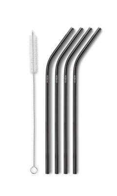 AYAIDA- sugerør i rustfri stål - drinking straw - black