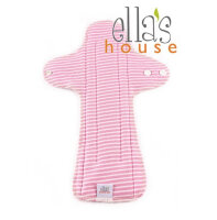 Ella's House fødsel / nat - økologisk bomuldsjersey - moon stripe pink - 1 stk