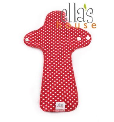 Ella's House fødsel / nat - økologisk bomuldsjersey - moon dots red - 1 stk