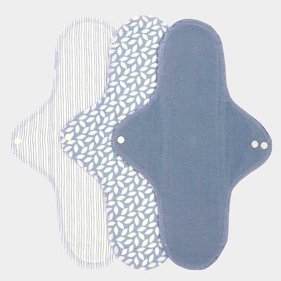 Imse Vimse økologisk stofbind - large - denim 3 pk