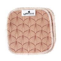 WeeCare - vaskeklude - alli powder rose / ginger red - 10 stk