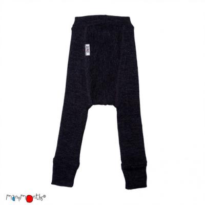 ManyMonths wool longies - charmer - foggy black - 62-74 cm
